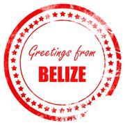 Greetings from belize Stock Illustration