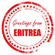 Greetings from eritrea - stock illustration