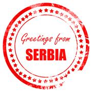 Greetings from serbia - stock illustration