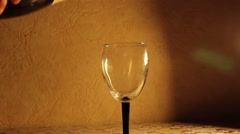 Champagne pouring in glasses Stock Footage