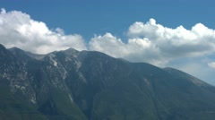 Clouds and high mountains - stock footage