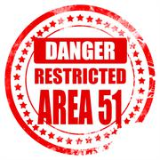 Area 51 sign Stock Illustration