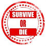 Survive or die - stock illustration