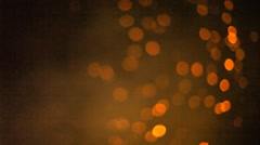 Bonfire sparkles bokeh big smoke Stock Footage