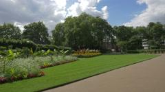 Victoria Embankment Gardens in London Stock Footage