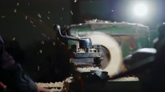 turning machine - stock footage