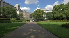 Alley in Victoria Embankment Gardens in London Stock Footage