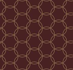Seamless Vector Pattern in Arabian Style - stock illustration