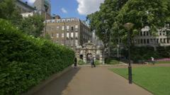 York Water Gate in Victoria Embankment Gardens in London Stock Footage
