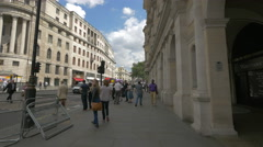 Many tourists walking on Strand Street in London - stock footage