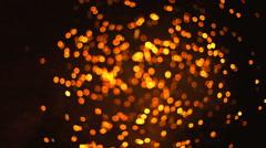 Bonfire sparkles bokeh medium Stock Footage