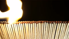 Burning Matches in the Dark Stock Footage