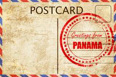 Greetings from panama Stock Illustration