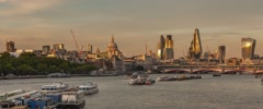 City of London evening Time-Lapse Cinemascope - stock footage