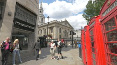 St Martin-in-the-Fields church in London - stock footage