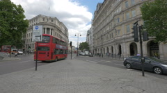 Driving on Strand Street in London - stock footage