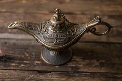 ancient lamp - stock photo
