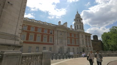 The Mall street with Admiralty House in London Stock Footage