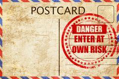 enter at own risk - stock illustration
