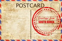 Greetings from south korea - stock illustration