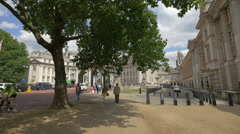 The Mall street with Admiralty Arch and House in London Stock Footage