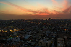 Sunset Cityscape Time Lapse of Jeddah, Saudi Arabia Stock Footage
