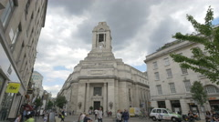 Stock Video Footage of United Grand Lodge of England building in London