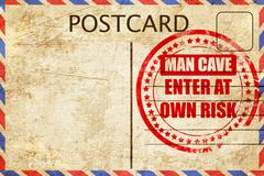 Man cave sign Stock Illustration