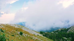 Mountain cloudy weather Stock Footage