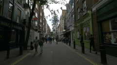 Neil Street with shops in London - stock footage