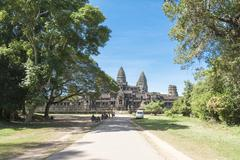 Angkor Wat East Side Stock Photos