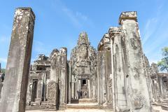 Angkor Bayon Temple Stock Photos