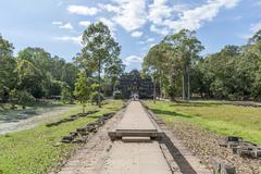 Angkor Baphuon Entry Stock Photos