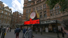 The Commitments red musical sign at Nimax Theatres in London Stock Footage