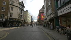 Tourists walking on Old Compton St in London Stock Footage