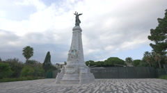 The Monument du Centenaire on a cloudy day in Nice Stock Footage