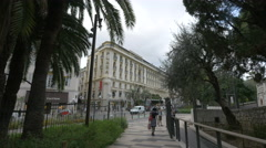 Visiting the Jardin Albert I and walking on Avenue de Verdun in Nice Stock Footage