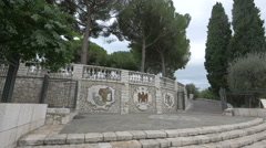 Jardin Albert I seen from Avenue de Verdun in Nice Stock Footage