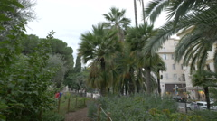 Jardin Albert I near Avenue de Verdun in Nice Stock Footage