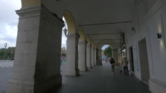 Passageway in Place Masséna, a place of downtown Nice Stock Footage