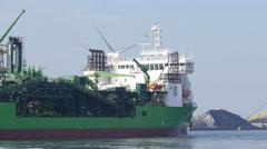 Offshore vessel Flintstone. Stock Footage
