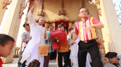 Thai Culture Buddhism Ordination Ceremony at temple, Bangkok Thailand. Stock Footage