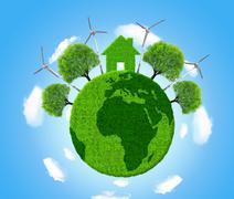 Green eco planet Stock Illustration