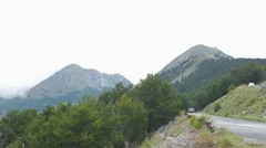 Mountain road curvature Stock Footage