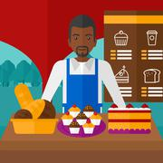 Successful small business owner Stock Illustration