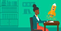 Successful business sturt up - stock illustration