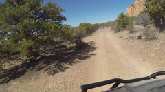 Offroad trail beautiful landscape desert POV HD Stock Footage