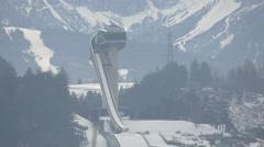 View of Bergisel Sprungschanze Stadion in Innsbruck Stock Footage