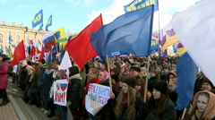 Rally to mark the second anniversary of the annexation of Crimea to Russia. - stock footage