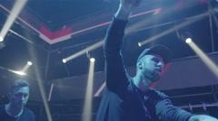 Cool Dj At The Nightclub - stock footage